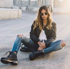 Jacket  black grunge coat jeans ripped jeans sunglasses shoes classy More 39ece6f20