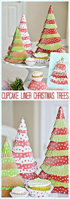 Christmas Crafts - Super cute and easy Christmas Tree Tutorial at the36thavenue.com