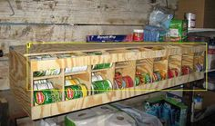Canned Goods organizer {tutorial}