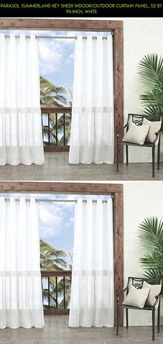 Parasol Summerland Key Sheer Indoor/Outdoor Curtain Panel, 52 by 95-Inch, White #products #kit #racing #gadgets #drone #decor #technology #fpv #plans #curtains #tech #camera #parts #shopping #outdoor