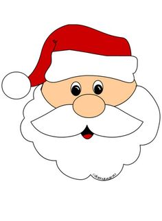 santa claus face cut out