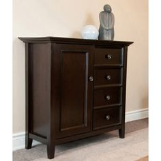 Halifax Dark American Brown Medium Storage Media Cabinet & Buffet - Overstock™ Shopping - Great Deals on WyndenHall Media/Bookshelves