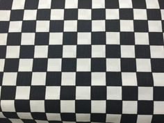 Original Chefs check black and white DRILL cotton fabric Kitchen chefs checks dress making fabrics cooking Men and Women costumes - yards