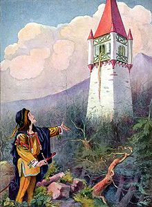 Rapunzel from an edition of Grimm's Fairy Tales illustrated by Johnny Gruelle. Johnny Gruelle (December 24, 1880 – January 8, 1938) was an American artist, political cartoonist, children's book author and illustrator (and even songwriter). He is best known as the creator of Raggedy Ann and Raggedy Andy. Wikipedia, the free encyclopedia.