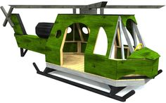 The classic design has been put in a playset form and kids will love it! Detailed, fun to build and a blast to play on, you can't go wrong with this plan!