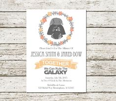star wars wedding invitation template Google Search Sheenas