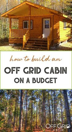 The biggest expenses when building your off grid cabin are materials and hardware. You must be creative in how and where you acquire materials, the tools, and the equipment needed to build your cabin. #offgrid #cabin #diycabin #cabinbuild How To Build A Log Cabin, Building A Cabin, Building A Tiny House, Tiny House Cabin, Building Ideas, Small Cabin Plans, Cabin Floor Plans, Small Cabins, House Plans