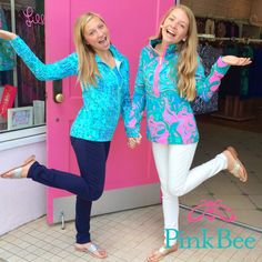 Lilly Pulitzer | Pink Bee  Skipper Popover Lilly Lounge   Leona Zip Up Escapades in the Everglades