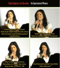 [GIFSET] Cindy Sampson on the fandom's treatment of women on the show.