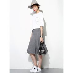 Textred Uneven Skirt