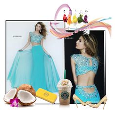 """Sherri Hill 11197 Jersey 2 Piece Prom Dress"" by homecominggirls ❤ liked on Polyvore featuring Sherri Hill and Christian Louboutin"