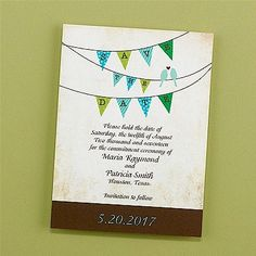 A Banner Day Save-the-Date Card