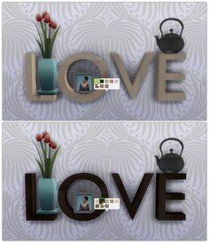 Love Sculpture 8 Wooden recolors at 13pumpkin31 via Sims 4 Updates
