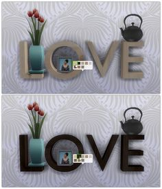 Love Sculpture 8 Wooden recolors at 13pumpkin31 via Sims 4 Updates