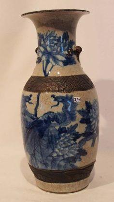 Vase, China, 19. Jh., Bodenmarke, H. 45cm