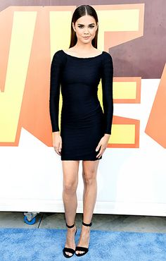 Simple and elegant! The Teen Beach Movie actress, who will be starring in the sequel this summer, looked sleek in an LBD with black sandals.