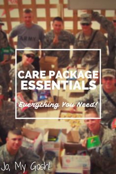 Perfect supply list - everything you need for creating the perfect care package.