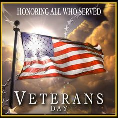 Veterans Day--Thank you!