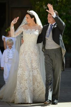HRH Prince Felix of Luxembourg and Princess Claire marry in religious wedding ceremony in Provence, France 9/21/2013