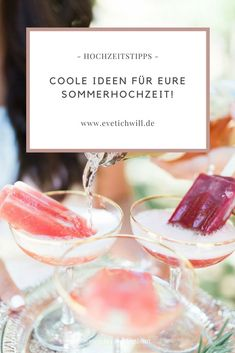 Popsicle Champagner und andere coole Ideen für Eure Sommerhochzeit! Vodka Popsicles, Champagne Popsicles, Alcoholic Popsicles, Homemade Popsicles, Good Enough, Paletas Recipes, Pop Sicle, Blueberry Mojito, Frozen Breakfast