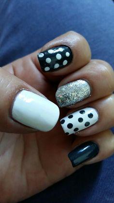 Blanco y gris oxford