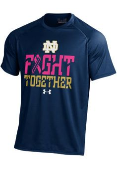 Under Armour Notre Dame Breast Cancer Awareness NuTech T-Shirt