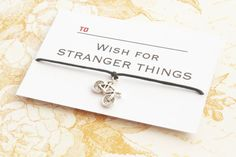 Stranger Things, Stranger Things Bracelet , Stranger Things Jewelry, Tv Show Gift, 80s Gift, Gift For Him, Wish Bracelet, Christmas Giftt