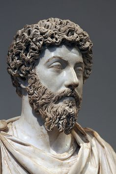 *ITALY ~ Marcus Aurelius: Louvre/NY Met.  Roman marble portrait of Marcus Aurelius on loan from the Louvre at the Metropolitan Museum of Art (inv.L.2008.49) Found in 1674 at an Imperial villa near Rome (Acqua Traversa). This portrait has been dated by the Louvre to c.170 CE. Restored by: C. Devos in 1006.