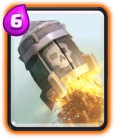Foguete (Rocket) Clash Royale Carta