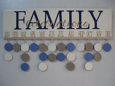 Family CELEBRATIONS Birthday Calendar Family by JackiesCraftShop, $45.00