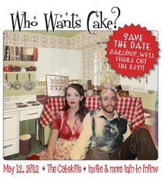 save the date | wish I was this talented/creative. in love with this retro font and ...