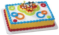Mickey Mouse Clubhouse Birthday Cake on Fastbrowse Disney Partydisney Mickey Decorations Mickey Mouse Wayhome Mickey Mouse Cake Decorations, Mickey Mouse Theme Party, Mickey And Minnie Cake, Mickey Cakes, Mickey Mouse Clubhouse Birthday, Minnie Mouse, Mickey Birthday, 1st Boy Birthday, Birthday Ideas