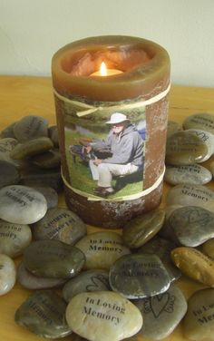 Memory Stones, In Lovng Memory, funeral favor for Memorial Service, or Life Celebration
