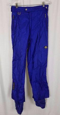 Vintage Descente Entrant Snow Insulated Winter Snowboard Ski Pants Blue Mens 34 #Descente