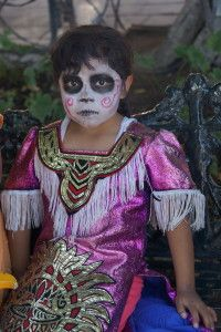 Child in Festival Make Up. San Miguel de Allende