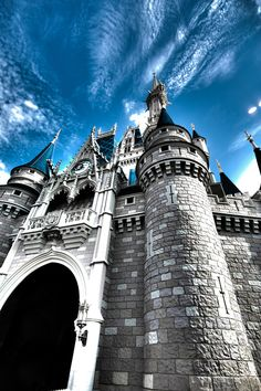 Cinderella's castle from a different perspective. Great capture.