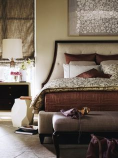 So elegant!! by Barbara Berry #staging #bedroom liked@ stagedtodaysoldtomorrow.com