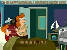 I'm so happy basketball season is almost over! Bring on football!!
