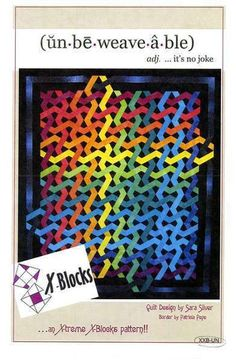 We want to share our love of all textile arts and crafts. This pattern uses any sized X-Blocks rotary cutting tool. Use the Mini and Bellybutton X-Blocks (all sizes) for finished wall hangings x and x Quilt Block Patterns, Pattern Blocks, Quilt Blocks, Rainbow Quilt, Weaving Textiles, Sewing Art, Queen Quilt, Scrappy Quilts, Quilting Designs