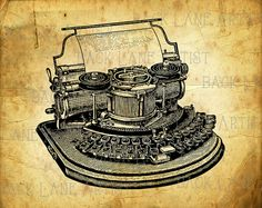 Hey, I found this really awesome Etsy listing at https://www.etsy.com/listing/225429472/vintage-typewriter-drawing-clipart