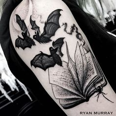 "7,240 Likes, 43 Comments - Ryan & Matthew Murray (@blackveiltattoo) on Instagram: ""you'll find me buried between the pages @ryanmrray"""