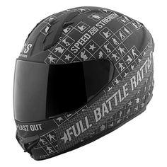 Speed and Strength SS1400 Full Battle Rattle Helmet - Black Charcoal