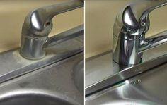 """anúncios Com este fantástico e simples método você vai conseguir remover com eficácia e facilidade aquelas manchas de água e de sujeira que ficam sempre na torneira e na pia. Depois que você fazer, ela vai ficar com aparência de """"nova"""", confira! No vídeo abaixo tem todo o passo a passo para você aprender como …"""