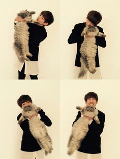 V ( Taehyung ) and a cat~