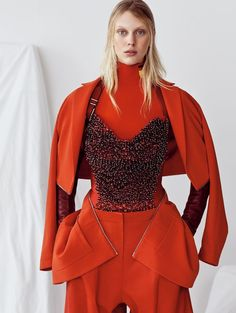 Vogue China's 'A Study In Scarlet' Shoot Boasts Artistic Red Fashion #fashion trendhunter.com