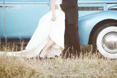 vintage car wedding utah
