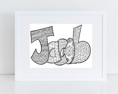 5 Printable Name Coloring Pages