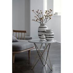 Omaggio vase, silver - Kähler #interior #design #scandinavian