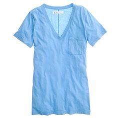 love love love. madewell. v-neck pocket tee. cabana blue. summer.