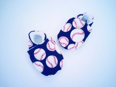 Baseball baby shoes booties baby slippers soft sole shoes crib shoes toddler shoes red white blue baseball boy baseball clothing baby sports by Cuddlythreads on Etsy
